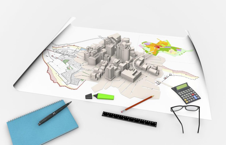 Maquette projet d'urbanisme